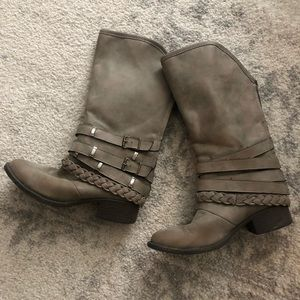 Shoes - Mid calf gray boots